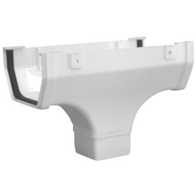Raingo 5 In. K Style Vinyl White Gutter Drop Outlet