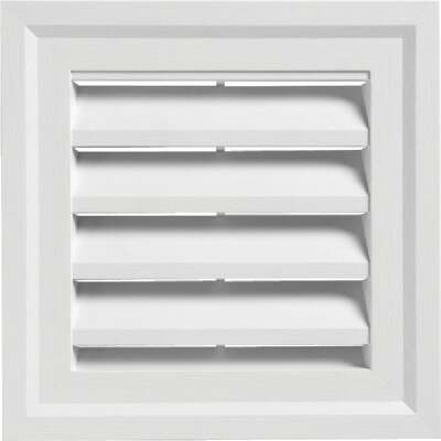 "Ply Gem 14"" x 14"" Square White Gable Attic Vent"