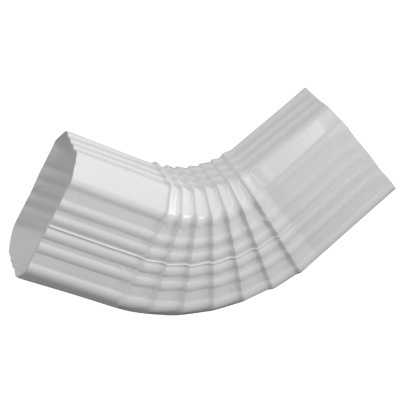 Repla K 2 x 3 In. Vinyl White Side Downspout Elbow