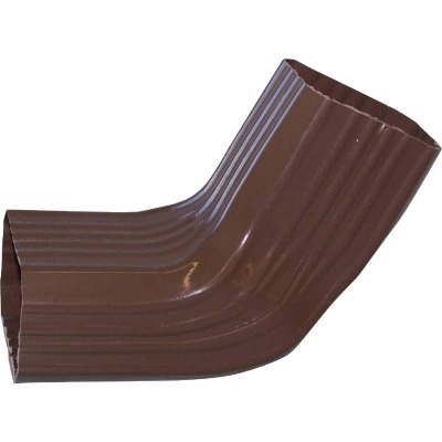 Repla K 2 x 3 In. Vinyl Brown Front or Side Downspout Elbow