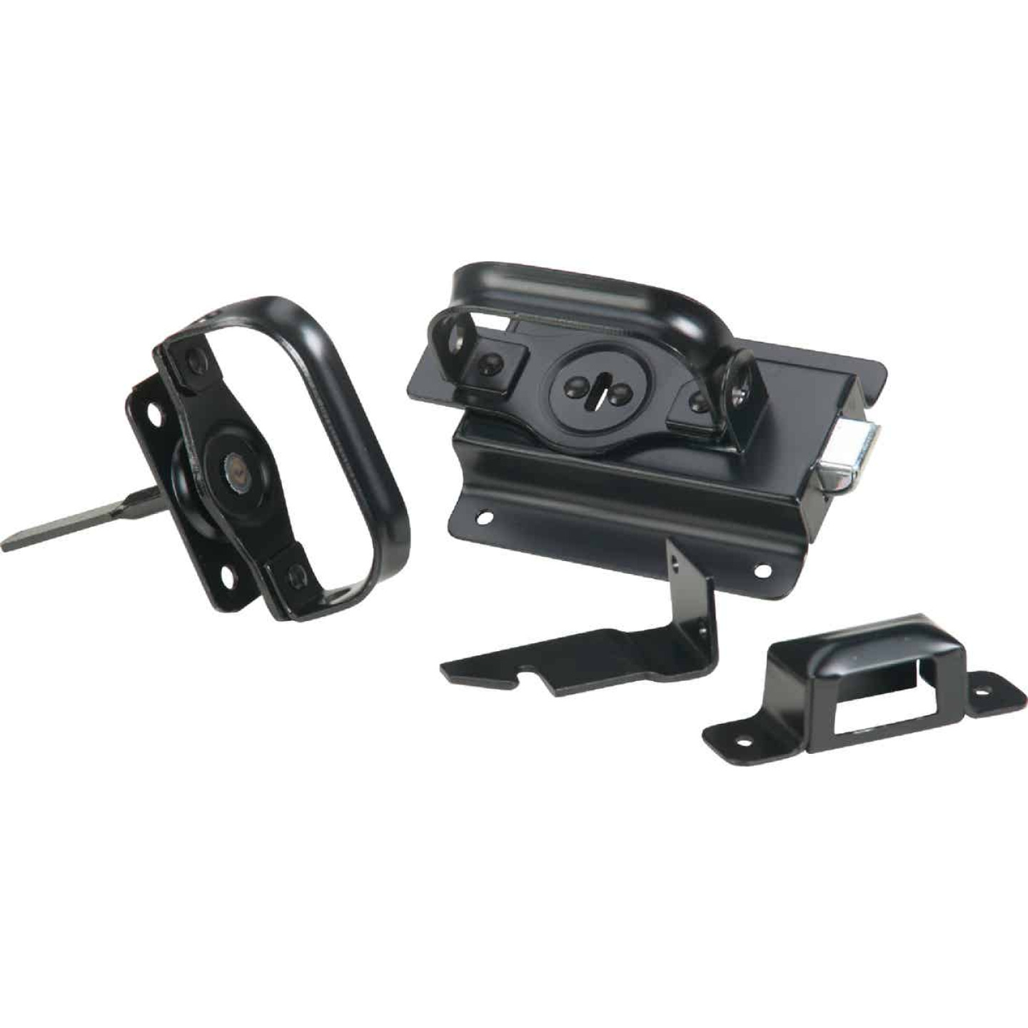 National Black Steel Swinging Door Latch Image 3