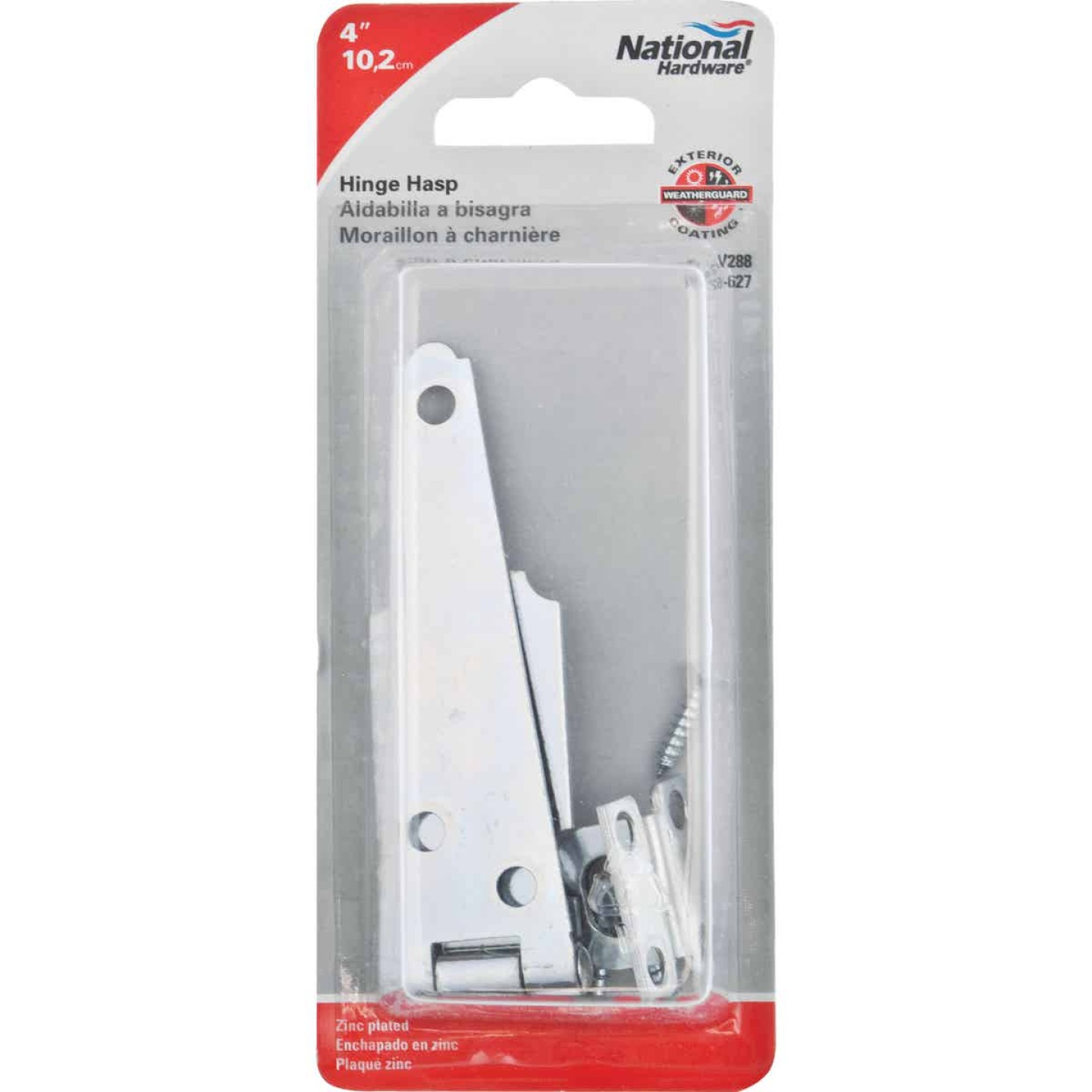 National 4 In. Steel Hinge Hasps Image 2