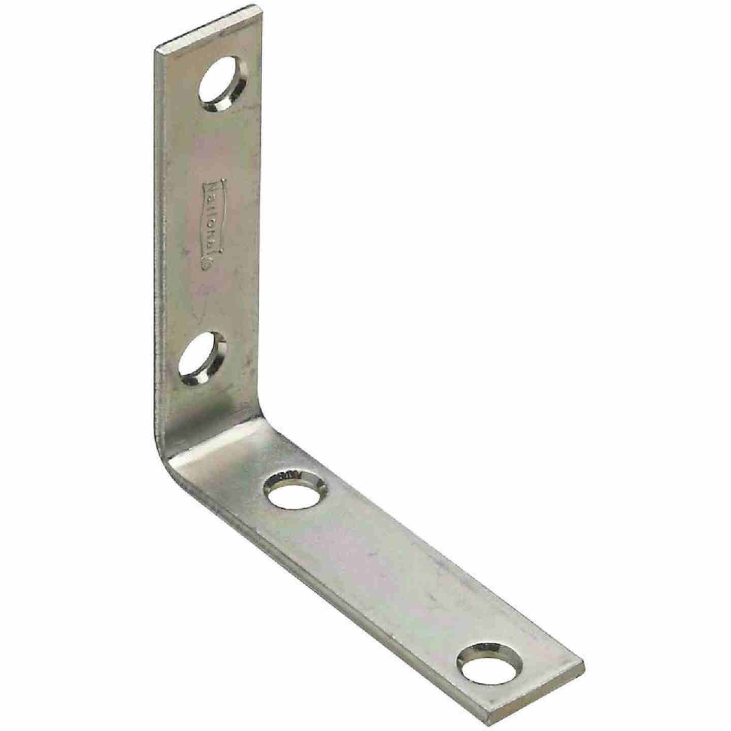 National Catalog V115 2-1/2 In. x 5/8 In. Zinc Steel Corner Brace (4-Count) Image 1