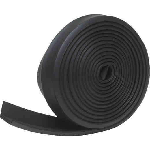 Do it 2-1/4 In. x 16 Ft. Black Rubber Weatherstrip Garage Door Seal