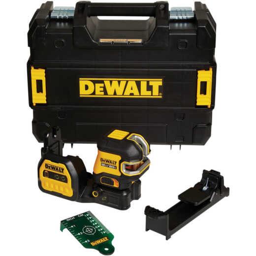 DeWAlt 20V Max Cordless Green Cross Line 2-Spot Laser Level (Tool-Only)