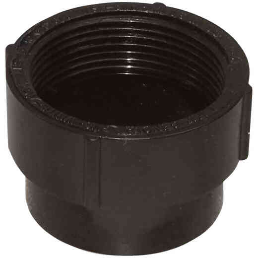 Charlotte Pipe 3 In. Spigot x FIP Fitting ABS Cleanout