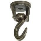National 2 In. Antique Brass Die Cast Swivel Swag Hook (2-Pack) Image 2