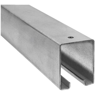 National 12 Ft. Galvanized Box Rail Barn Door Rail