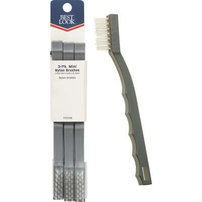 Best Look Nylon Bristle Mini Tile & Grout Brush (3-Pack)