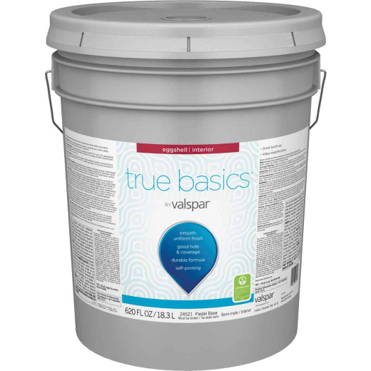True Basics by Valspar Eggshell Interior Paint, 5 Gal. Pastel Base