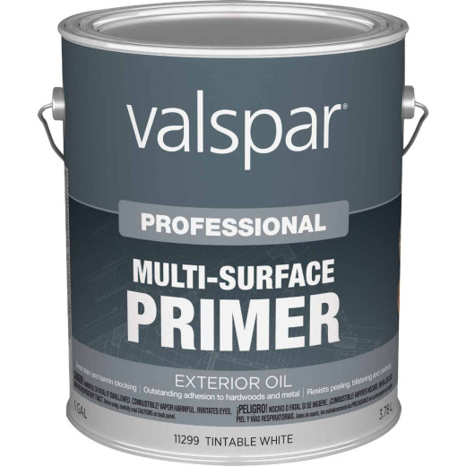 Valspar Professional Tintable White Oil-Based Multi-Surface Exterior Primer, 1 Gal.