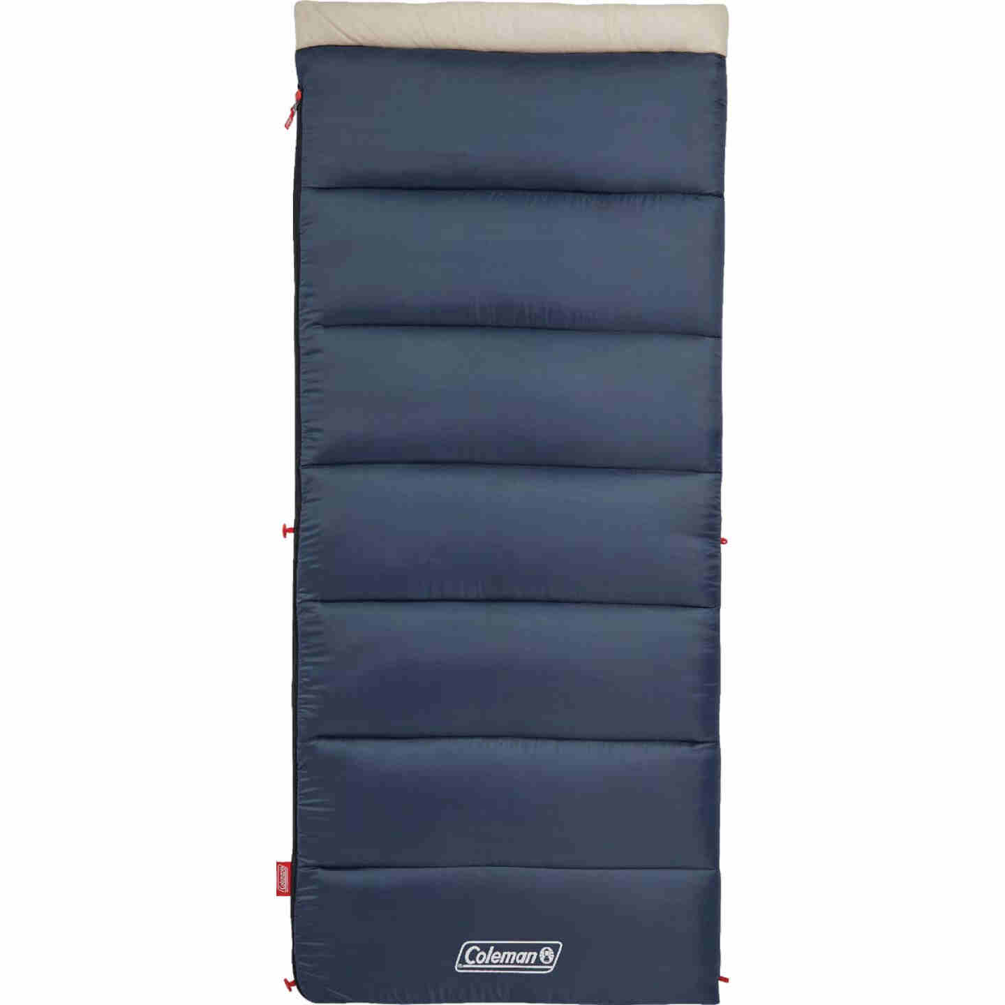 Coleman 30 Degree 33 In. W. x 75 In. L. Blue Adult Sleeping Bag Image 1