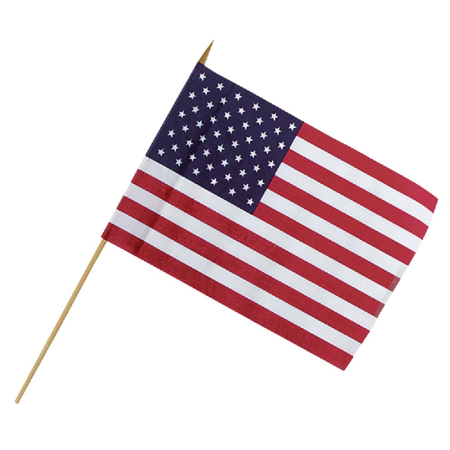 Valley Forge 12 In. x 18 In. Polycotton Stick American Flag Image 1